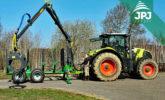 Traktor Claas a vyvážečka FARMA