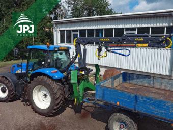 Hydraulická ruka, dosah 7 m, uchytenie do 3 bodu, traktor New Holland