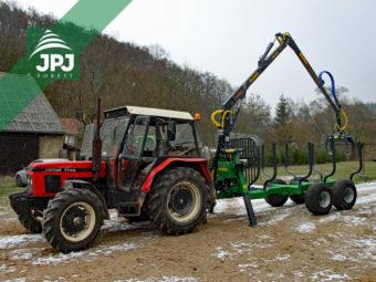 Traktor Zetor 7745 + vyvážačka Farma CT 6,3-9