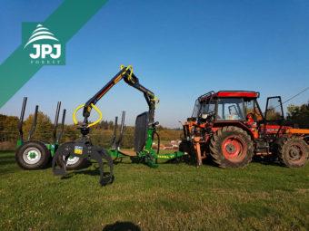 Traktorová vyvážačka Farma - nosnosť 7 ton + traktor Zetor
