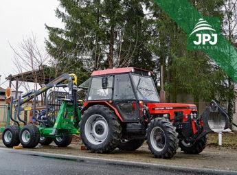Vyvážačka Farma CT 6,3-9 + traktor Zetor 7245