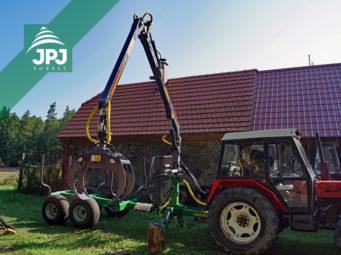 Vyvážačka dreva Farma CT 5,3-8 + traktor Zetor 7245