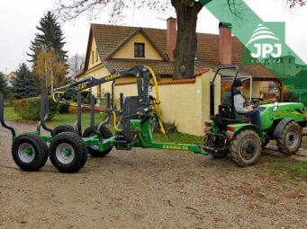 Vyvážacie vlek Farma CT 3,8-6 G2 a malotraktor Šálek