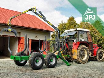 Zetor 7245 a traktorová vyvážačka Farma, nosnosť 6 ton